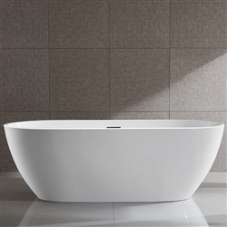SanSiro Thin Modern 71in Oval Acrylic Bathtub