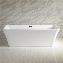 SanSiro Thin Modern Acrylic 59in Rectangle Bathtub