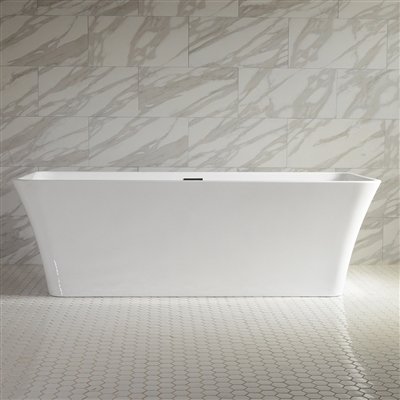 SanSiro Thin Modern Acrylic 67in Rectangle Bathtub