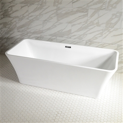 SanSiro Thin Modern Acrylic 73in Rectangle Bathtub