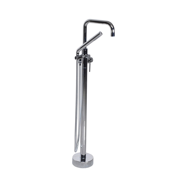 'The Waterlands' No.017PC Freestanding Floor Mounted Tub Faucet in Polished Chrome