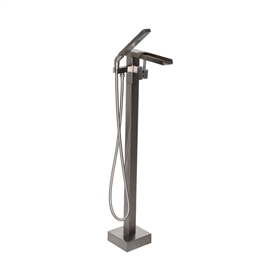 'The Waterlands' No.041BN Freestanding Floor Mounted Tub Faucet in Brushed Nickel