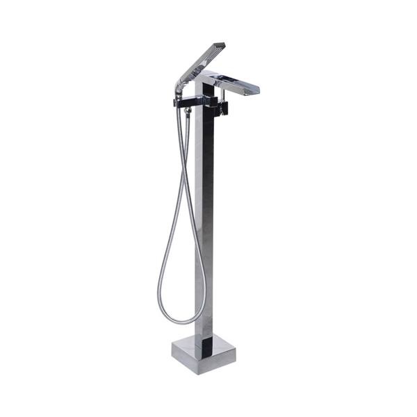 'The Waterlands' No.041PC Freestanding Floor Mounted Tub Faucet in Polished Chrome