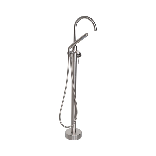 'The Waterlands' No.172BN Freestanding Floor Mounted Tub Faucet in Brushed Nickel