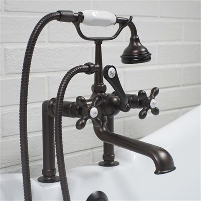 Deck mounted Victoriana vintage tub filler in Oil Rubbed Bronze