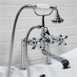 Deck mounted Victoriana vintage tub filler in Chrome