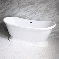 VTABT73 73in Hot Air Massage French Bateau Tub