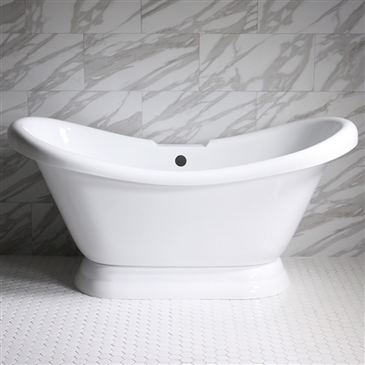 VTADS59 59in Hot Air Massage Double Slipper Tub