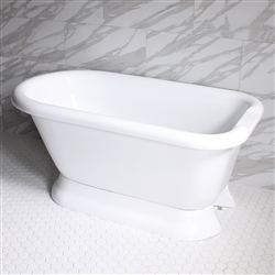 "<br>VTAFL59 59"" HOT AIR Massage Classic Style Tub with Drain and Concealed Blower"