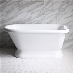 "<br>VTAFL62 62"" <b>HOT AIR</b> Jetted Classic Style Tub with Drain and Concealed Blower"