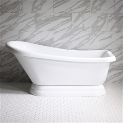 VTASL57 57in Hot Air Massage Single Slipper Tub