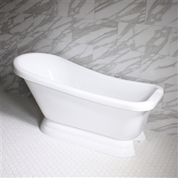 VTASL67 67in Hot Air Massage Single Slipper Tub