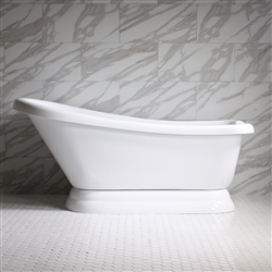 "<br>VTASL73 73"" HOT AIR Massage Single Slipper Tub with Drain and Concealed Blower"