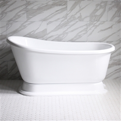 "<br>VTASW62 62"" <b>HOT AIR</b> Jetted Swedish Slipper Tub with Drain and Concealed Blower"