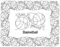 Digital Quilting Design Basketball Border Set by Anne Bright.