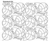 Digital Quilting Design Basketball b2b by Anne Bright.
