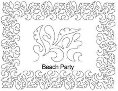 Digital Quilting Design Beach Party Border Set by Anne Bright.