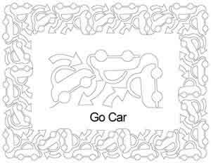 Digital Quilting Design Car Go Border Set by Anne Bright.