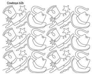 Digital Quilting Design Cowboy b2b by Anne Bright.