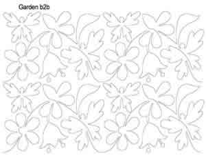 Digital Quilting Design Garden b2b by Anne Bright.