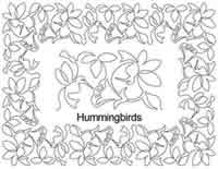 Digital Quilting Design Hummingbirds Border Set by Anne Bright.