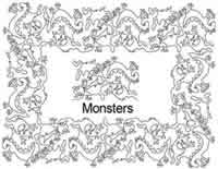 Digital Quilting Design Monsters Border Set by Anne Bright.