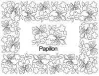 Digital Quilting Design Papillon Border Set by Anne Bright.
