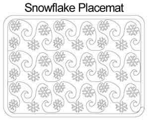 Snowflake Placemat   Anne Bright   Digitized Quilting Designs : snowflake quilting design - Adamdwight.com