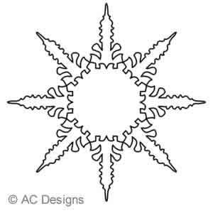 Digital Quilting Design Arrow by AC Designs.