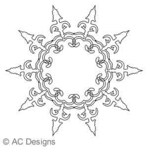 Digital Quilting Design Arrow 2A by AC Designs.