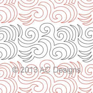 Digital Quilting Design Aztec Swirl by AC Designs.