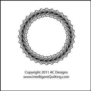 Digital Quilting Design Cotie Circle by AC Designs.