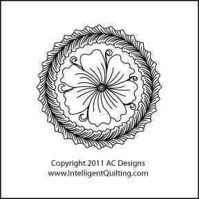 Digital Quilting Design Cotie Circle  Full by AC Designs.