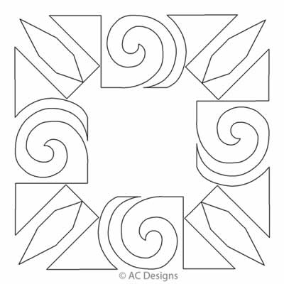 Digital Quilting Design Cotie's Scroll Block 1 by AC Designs.
