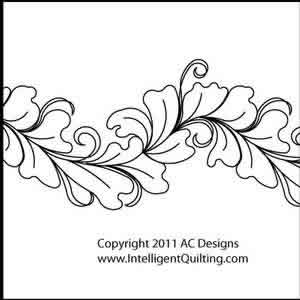 Digital Quilting Design Leafy Border by AC Designs.