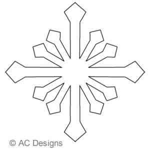 Digital Quilting Design Snowflake A by AC Designs.