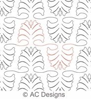 Digital Quilting Design Feathered Plume Interlocking Panto by AC Designs.