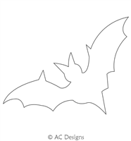 Bat Cave Motif by AC Designs. This image demonstrates how this computerized pattern will stitch out once loaded on your robotic quilting system. A full page pdf is included with the design download.