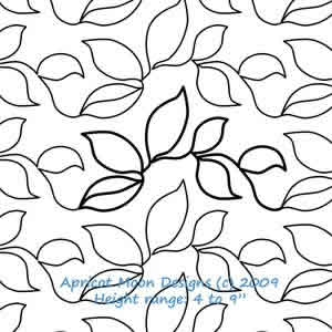 Digital Quilting Design 6 Leaf by Apricot Moon.