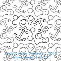 Digital Quilting Design Anchors Away by Apricot Moon.