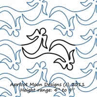 Digital Quilting Design Angel Wings by Apricot Moon.