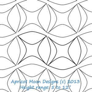 Digital Quilting Design Bread Basket by Apricot Moon.
