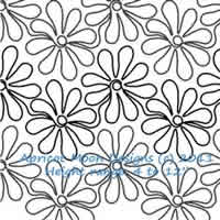 Digital Quilting Design Daisy Doodles by Apricot Moon.