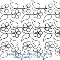 Digital Quilting Design Daisy Vine by Apricot Moon.
