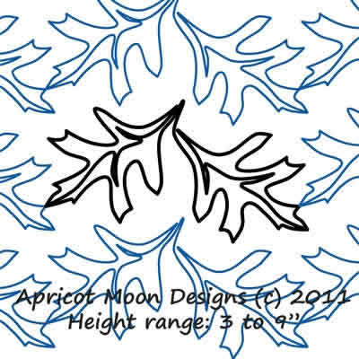 Digital Quilting Design Falling Leaf by Apricot Moon.