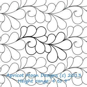 Digital Quilting Design Feather Boa by Apricot Moon.