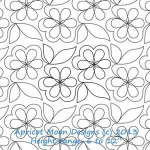 Digital Quilting Design Forever Flower by Apricot Moon.