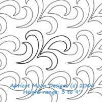 Digital Quilting Design French Curl by Apricot Moon.