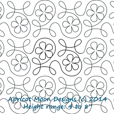 Digital Quilting Design Ginger Flower by Apricot Moon.