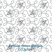 Digital Quilting Design Ginger Skeeter by Apricot Moon.